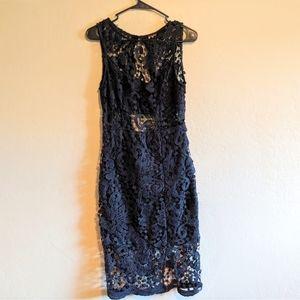 Crochet Lace Dress with front Slit